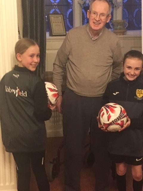 Spraire Lasses score Abbeyfield Society sponsorship